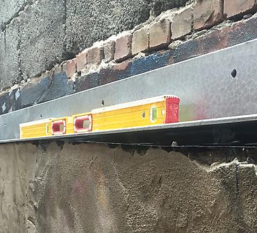 Reparation de fers angles en acier - Remplacement de fers angles en acier galvanisé.