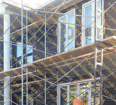 Projet de briquetage maconnerie remise a neuf reparation de facade maison unifamiliale - Pose de pierre type Transpave pose de linteaux et alleges Lieu Ville de Boucherville rive sud de Montreal