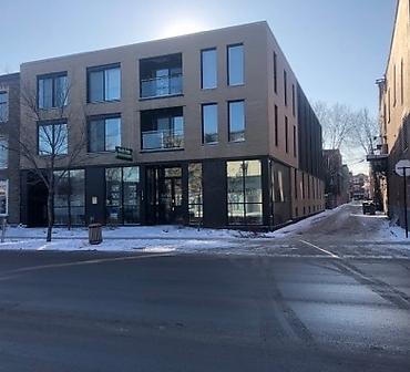 Projet de maconnerie briquetage sur la rue Papineau Montreal - Installation de briques Meridian Brick format métrique et Briques General Shale format métrique.