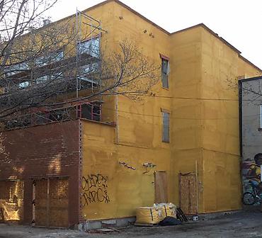 Le Notre-Dame a Montreal - Projet de maçonnerie: Installation de briques Palmetto Brick à Montréal.