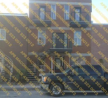 Installation de brique Richelieu format Quebec 2 - Installation de lintaux decoratifs Lieu Ville de Montreal arrondissement Hochelaga Maisonneuve