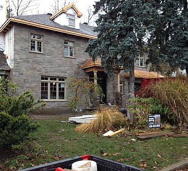 Projet d agrandissement residentiel - travaux de maconnerie et briquetage maconnerie effectues a Saint Bruno de Montarville