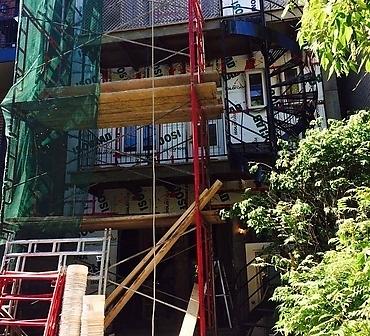 Reparation mur de brique Hochelaga-Maisonneuve Montreal - Reconstruction de mur de brique complet à Hochelaga. Démolition complète de la brique car il y avais plusieurs infiltrations d'eau autour des fenêtres et à la base du mur de brique