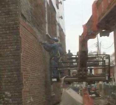 Reparation mur de brique hochelaga Maisonneuve - Démolition mur de brique en urgence à Montréal, risque effondrement