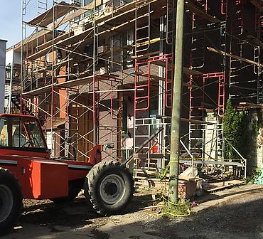 Projet de briquetage maconnerie Installation de briques Sioux et Belden - Installation de briques Sioux et Belden sur la rue Bourbonnière dans Hochelaga Maisonneuve.