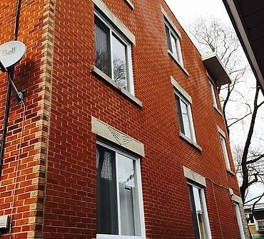 Remplacement de linteau de fenetre Rosemont Montreal - Changer linteau, remplacement d'allège de fenêtre, linteau décoratif en béton, allège Montréal, remplacement allège Rosemont